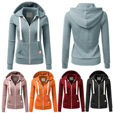 ❤️ Women's Zip Up Fleece Hoodies Hoody Casual Sports Sweatshirt Coat Jacket Tops