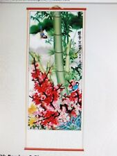 CHINESE BAMBOO BLOSSOM FENG SHUI WALL HANGING SCROLL PICTURE PARTY NEW YEAR BC-4