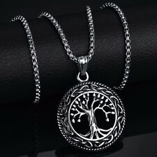 Tree of Life Charms Pendant Necklace Stainless Steel Men/Women Lucky Jewelry