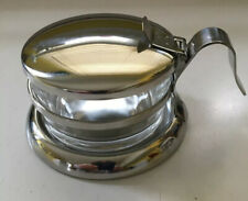 Salt Cellar, Salt Server, Stainless Steel And Glass By Stainless Lux