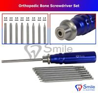 Orthopedic Bone Screwdriver Set With Quick Coupling Handle Surgical Instruments