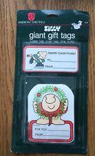 VINTAGE American Greetings ZIGGY Christmas Gift Tags