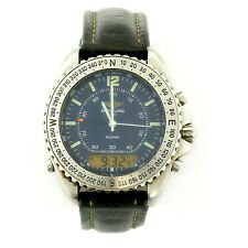 BREITLING A51038 PLUTON PROF BLUE DIAL DIGITAL/ANALOG WATCH FOR PARTS OR REPAIRS