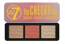 W7 Cheeky Trio Palette Bronzer Blusher Highlighter Contour Kit Make Up