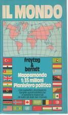 IL MONDO - MAPPAMONDO 1:35 MILIONI - PLANISFERO POLITICO