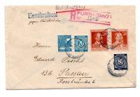 Einschreiben Fernbrief gegen Rückschein, Alliierte Besetzung von 1947