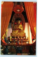 Buddhist Statue Guo Qing Temple China Vintage 4X6 Postcard D56