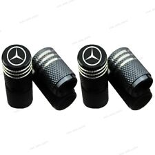 4x Aluminum Car Accessories Wheel Tire Valve Stems Tyre Caps For Mercedes-Benz