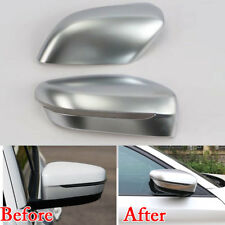 For BMW 5 Series G30 2018 Matte Rearview Side Door Mirror Cover Trim Chrome ABS