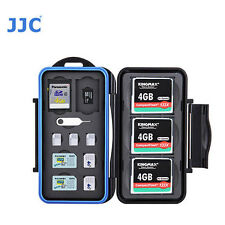 JJC MC-STC14 Memory Card Case fits 3 CF 2 SD 2 MSD 2 SIM 2 Micro SIM 3 Nano