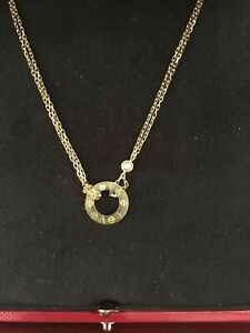Cartier 18ct Yellow Gold Diamond Love Necklace