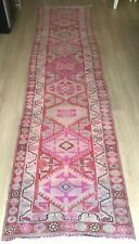 """Turkish Wool Runner, Vintage Hand Knotted Soft Pile 11'5""""x 2'8"""", FREE SHIPPING!"""