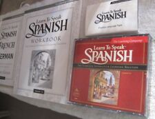 Learn To Speak Spanish, 3 CDs and a tape from The Learning Company