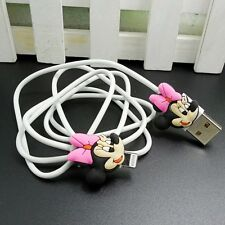 USB Data Cable Charger Cable Sync Cord with Minnie Mouse A for iPhone 5C/5S/6/6+