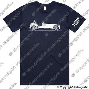 Personalised Car T-shirt Tee - For Caterham Westfield Lotus 7 Kitcar Fans