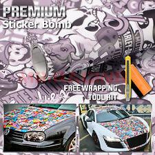 "*12""x60"" Sticker Bomb Vinyl Wrap Decal Film Graffiti Cartoon JDM Anime DIY #BST"
