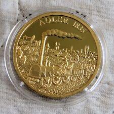 La locomotora Adler 1835 30 mm Oro Plateado Prueba De Medalla