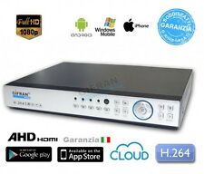 DVR 4 canali AHD 1080P H.264 Videosorveglianza Full HD VGA HDMI HD 1TB incluso