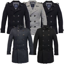 Button Wool Military Coats & Jackets for Men