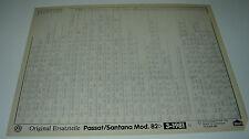 Microfich Ersatzteilkatalog VW Passat Typ 32B 32 B B2 B 2 Santana Stand 03/1981!
