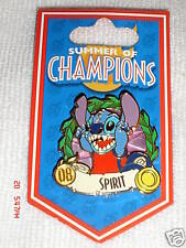 DISNEYLAND SUMMER OF CHAMPIONS STITCH SPIRIT PIN RETIRED 2008