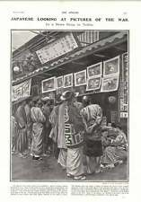 1905 Japanese Looking At War Pictures In Tokyo Champion Grandee Lady Emily