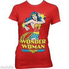T-shirt Wonder Woman superhero maglia donna rossa ufficiale by Hybris