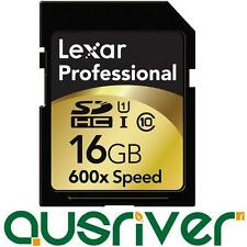 Genuine Lexar 16GB 16G 600x 90mb/s Professional HD SD SDXC SDHC Card Class 10