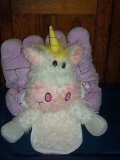 JAY AT PLAY HAPPY NAPPERS PURPLE CASTLE AND UNICORN PLUSH PILLOW MAKES NOISE