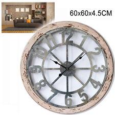 Orologio Parete Stile Vintage Grande Legno 60 Cm Numeri Casa Ufficio Regalo 526