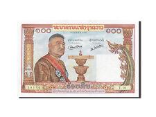[#257215] Lao, 100 Kip, 1957, KM #6a, UNC(63), T.10