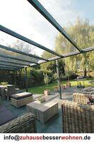 Top Terrassendach Alu Terrassenüberdachung  VSG Glas Farbe Anthrazit 500 x 250cm