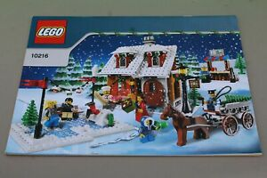 LEGO Seasonal Winter Village Bakery (10216) 100% Complete Excellent Condition