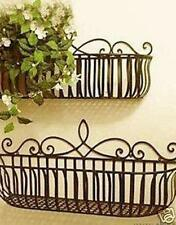 Wrought Iron French Style Wall Flower Pot Plant Holder Window Box S Size ONLY 01