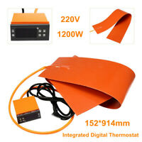 6''x36'' 1200W 220V Guitar Side Bending Silicone Heat Blanket Digital
