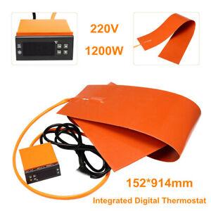 6''x36'' 1200W 220V Guitar Side Bending Silicone Heat Blanket Digital Controlle
