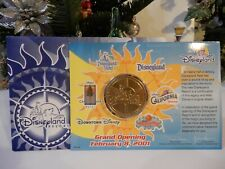 Disneyland California Opening Coin/Medal in Package ~ February 8th 2001 ~LOW bid