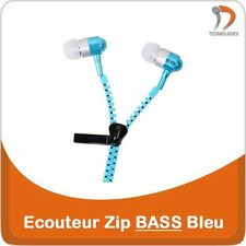 Ecouteur ZIP Earphone Oortelefoon iPhone iPod Mobile Phone MP3 MP4 Blue BASS