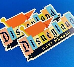 """MAGNET Disneyland CAST MEMBER Car Magnets Size: 5.15"""" x 2.72"""""""