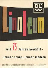 PC STRAGULA DEUTSCHE LINOLEUM-WERKE, GERMAN VINTAGE ADVERTISING POSTCARD (b2112)