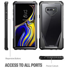 Galaxy Note 9 Case | Poetic Full-Body Hybrid Bumper Protective Cover Black