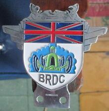 VINTAGE AUTOMOBILE CAR MASCOT HOOD ORNAMENT BRDC BRITISH RACING DRIVERS CLUB