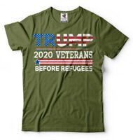 Veterans for Trump 2020 T-shirt Trump Supporter Republican Party Donald Trump Te