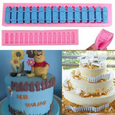 3D Fence Silicone Fondant Mould Cake Mold Chocolate Baking Sugarcraft Decorative