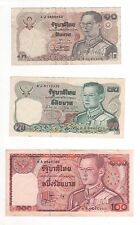 LOT DE 3 BILLETS THAILANDE