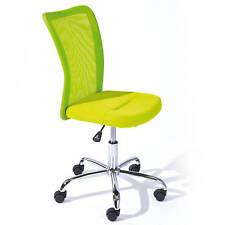 Chaise de bureau BONNIE siège fauteuil pivotant ergonomique sur roulettes VERT