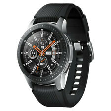 Samsung Galaxy Watch - 46mm Silver Stainless Steel Case, Onyx Black Tomcat Strap
