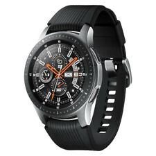 Samsung Galaxy Watch 46mm Silver Case - Onyx Black Tomcat Strap - Very Good