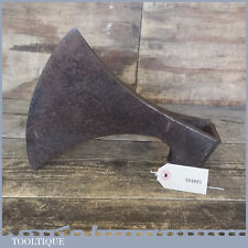 """Rare Antique Blacksmiths Forged Large 9"""" Battle Axe Head"""