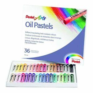 Pentel Oil Pastel Set Artists Fade Resistant Colour Oil Pastels (36 Piece Set)